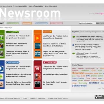 Newsroomloads-Startseite