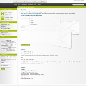 proMpu-Kontaktseite